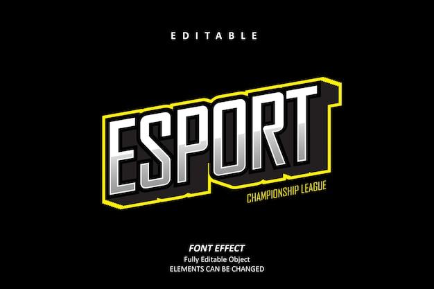 Esport championshipテキスト効果