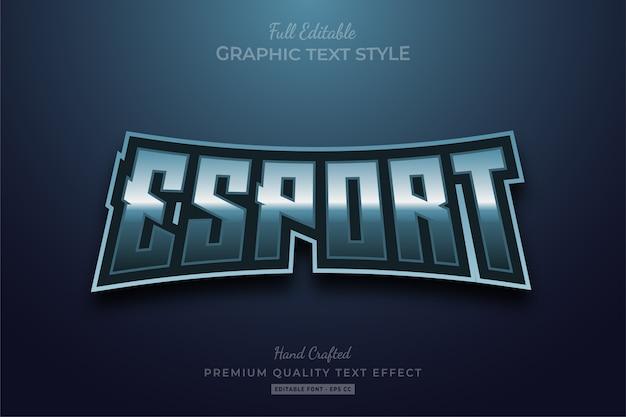 Темный редактируемый премиум-эффект стиля текста esport Premium векторы