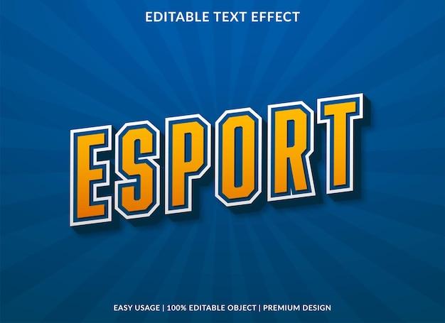 Редактируемый текстовый эффект esport премиум стиль