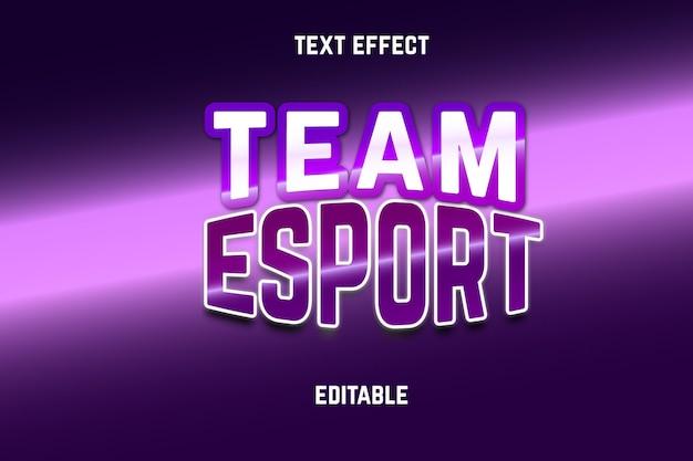 Esport editable text effect
