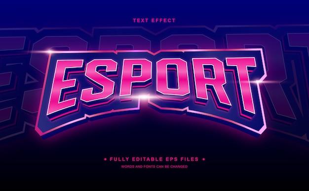 Редактируемый текстовый эффект esport