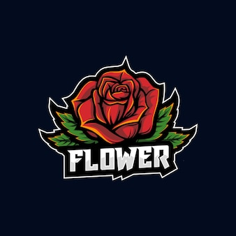 Esport 꽃 로고