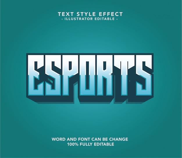 Esport font text