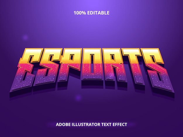 Esport game text effect