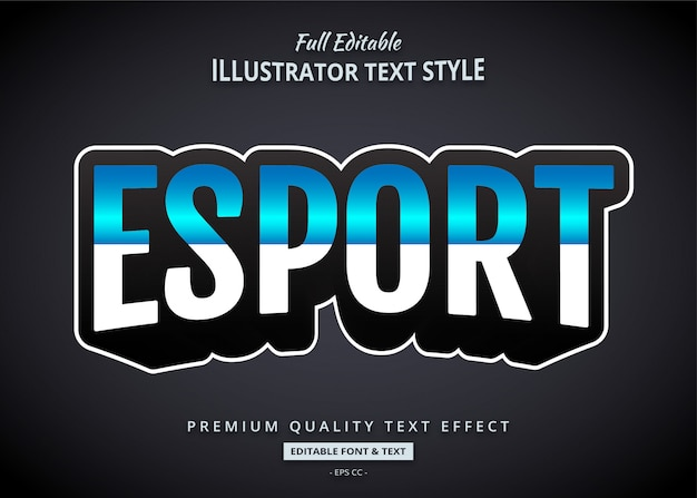 Эспорт игра стиль текста эффект