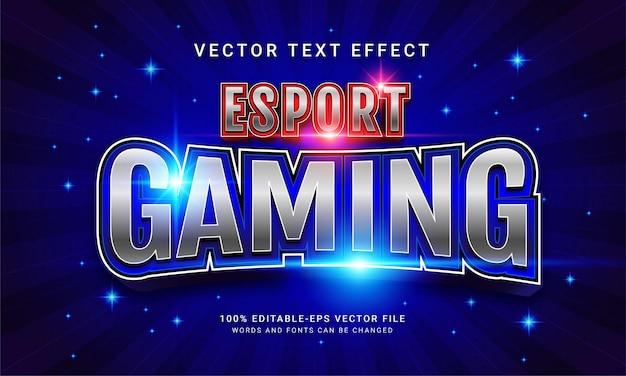Редактируемый текстовый эффект киберспорта синего цвета