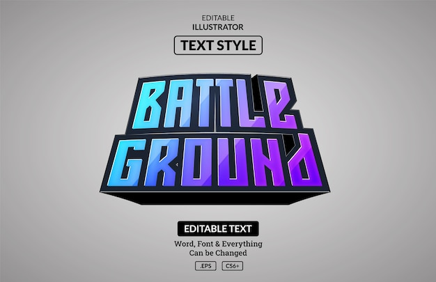 Esport gaming style, editable text effect