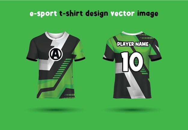 Esport gaming t shirt jersey template