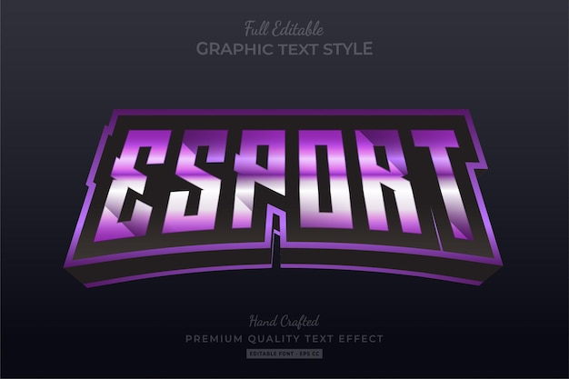 Esport gaming team editable text effect font style