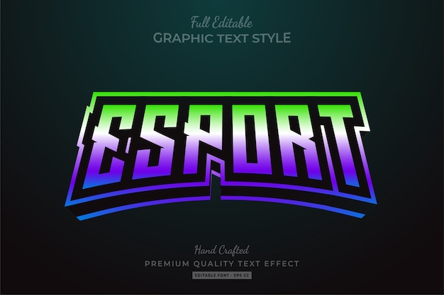 Esport gradient editable   text style effect