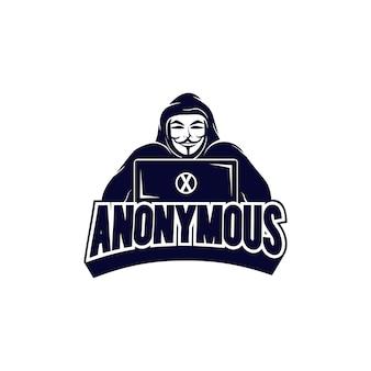 Шаблон логотипа хакера киберспорта