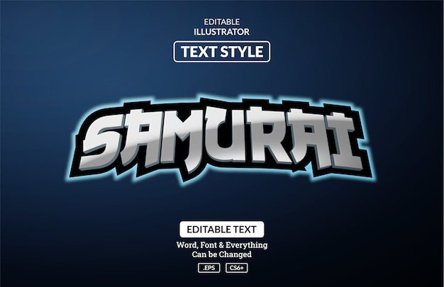 Esport japan gaming style, editable text effect