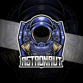 Esport logo astronout character