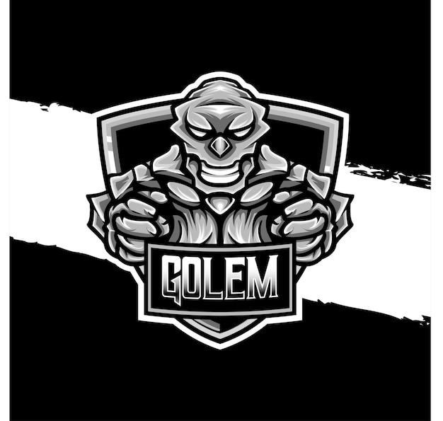 Esport logo golem character icon