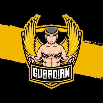 E스포츠 로고 가디언 캐릭터 아이콘