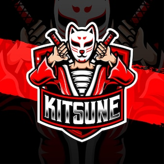 Esport logo kitsune character icon