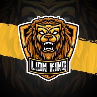 Esport logo lion illustration character icon