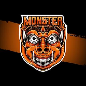 Esport logo monster character icon
