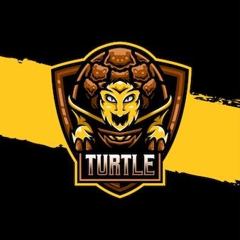 Esport logo turtle character icon