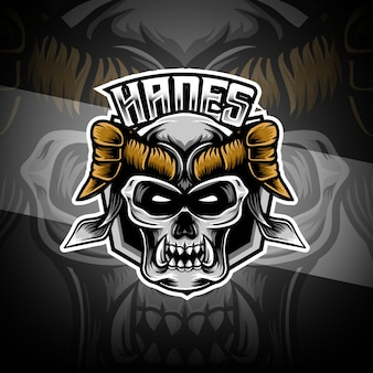Esport logo with hades character