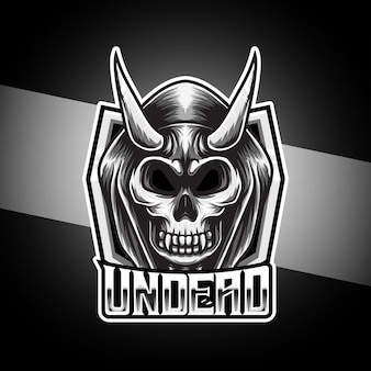 Esport logo with undead skull character
