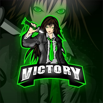Esport samurai logo victory team