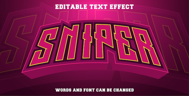 Esport sniper style text effect