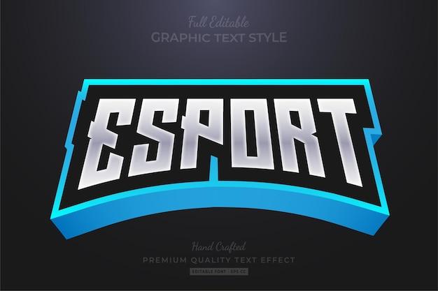Esport team 편집 가능한 텍스트 효과 글꼴 스타일