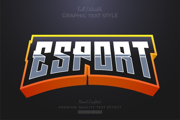 Esport team orange editable text effect font style