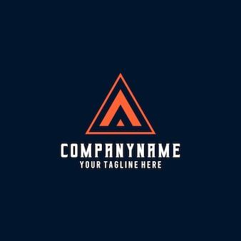 Esport text alphabet logo. initial letter a