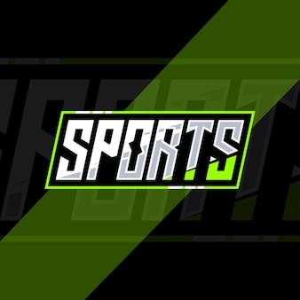 Esport 텍스트 효과 디자인