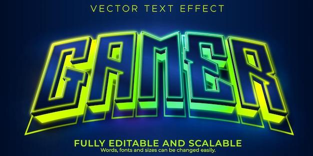 Редактируемый текстовый эффект киберспорта и спортивный стиль текста