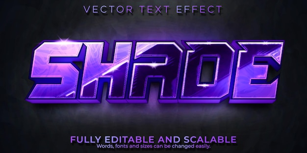 Esport text effect, editable game and neon text style