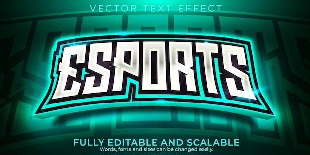 Esport 텍스트 효과, 편집 가능한 게이머 및 네온 텍스트 스타일