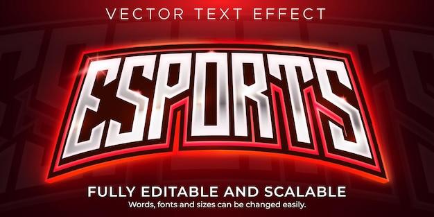 Eスポーツテキストエフェクト、編集可能なゲーマー、ネオンテキストスタイル