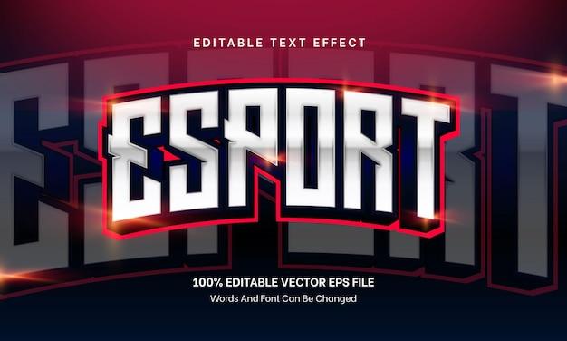 Редактируемый текстовый эффект киберспорта для игрового вектора премиум