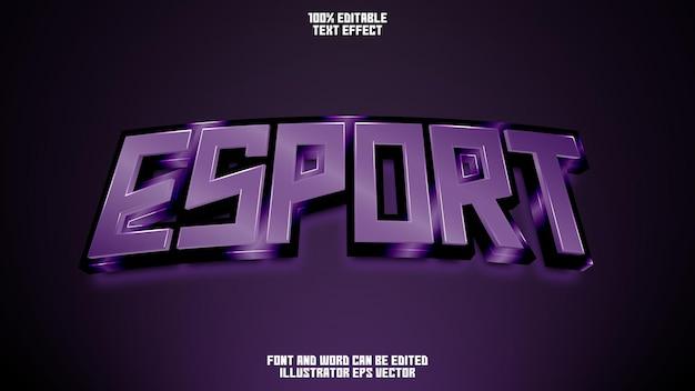 Esport text effect full editable purple shiny amethyst gem