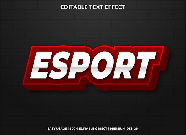 Киберспорт текстовый эффект шаблон премиум стиль