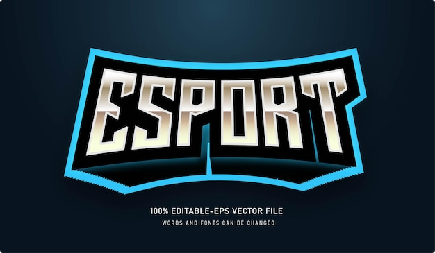Esport text effect with editable font