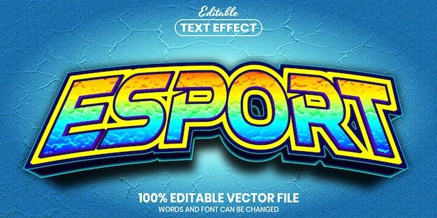 Eスポーツテキスト、フォントスタイルの編集可能なテキスト効果