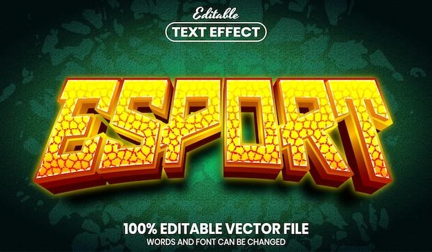 Esport 텍스트, 글꼴 스타일 편집 가능한 텍스트 효과