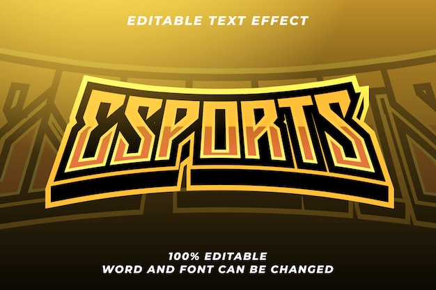 Esport text style effect 5
