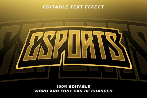 Esport text style effect 6