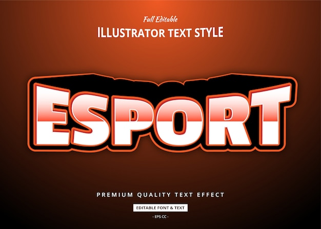 Esport text style effect
