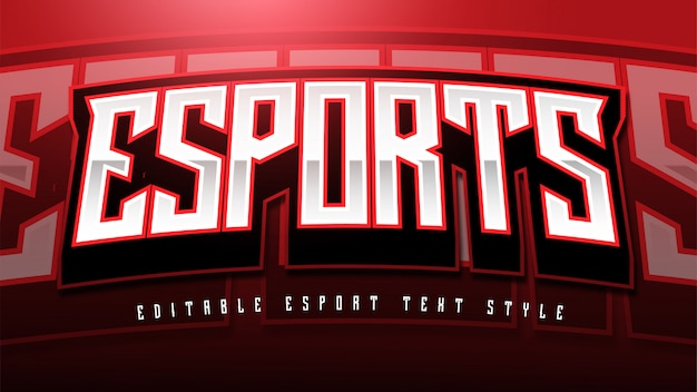 Esport text styleエフェクト