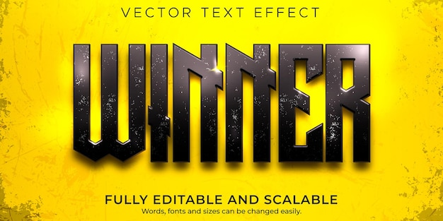 Esport winner text effect, editable game and neon text style