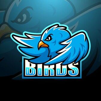 青い鳥のマスコットesport
