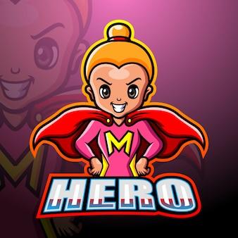 スーパーヒーローのマスコットesport