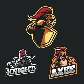 Логотип эмблемы коллекционного талисмана для команды esport