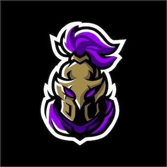 Шаблон логотипа талисмана спартанского esport